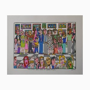 Friends and Fans of James Rizzi 2D Lithograph by James Rizzi, 2004