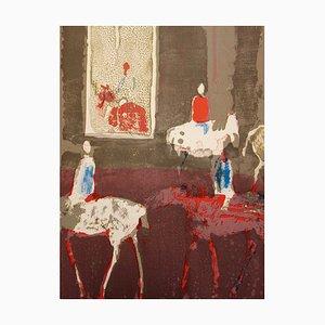 Litografia Les Cavaliers di Paul Guiramand