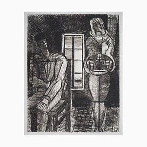 Incisione Homme et Femme di Marcel Gromaire