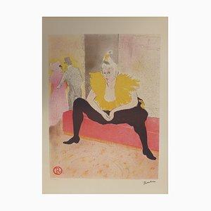 Lithographie Elles, La Clownesse Assise par Henri de Toulouse-Lautrec