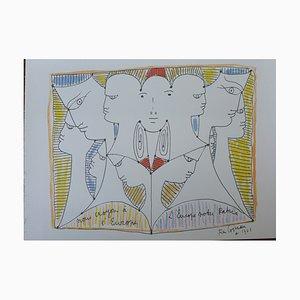 Diversité de l'Europe Lithograph by Jean Cocteau