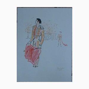 Toréador Lithographie von Jean Cocteau