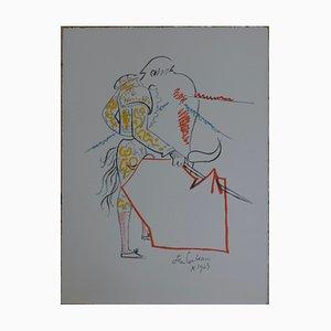 Litografia Tauromachie di Jean Cocteau
