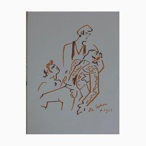 Toréador Vaincu Lithograph by Jean Cocteau