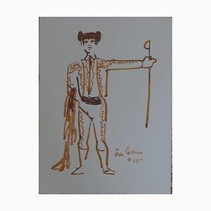 Toréador et Son épée Lithographie von Jean Cocteau