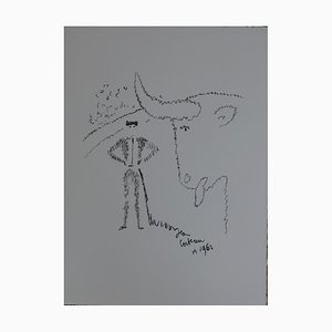 La provocation Lithograph by Jean Cocteau