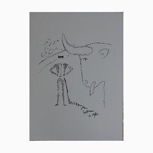 Litografia La provocation di Jean Cocteau