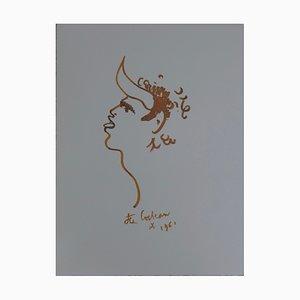 Litografia Toréador Sauvage di Jean Cocteau
