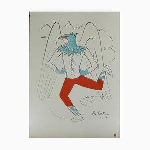 Litografia Le Griffon di Jean Cocteau