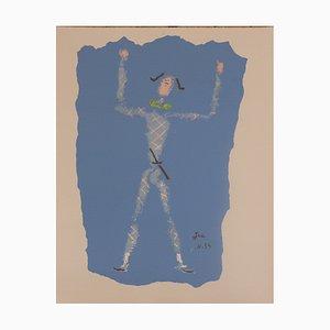 Jean Cocteau - Sous le Manteau de Feu, Lithographie