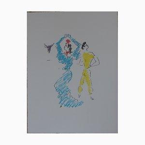 Lithographie La Danseuse de Flamenco par Jean Cocteau