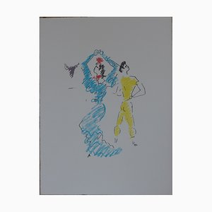 Litografia La Danseuse de Flamenco di Jean Cocteau