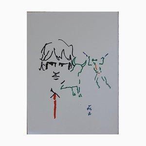 Toréador élégant Lithograph by Jean Cocteau