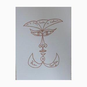 Sourire Surréaliste Lithograph by Jean Cocteau