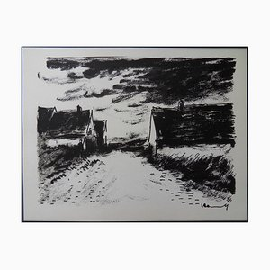 House in Beauce Lithograph by Maurice de Vlaminck, 1958