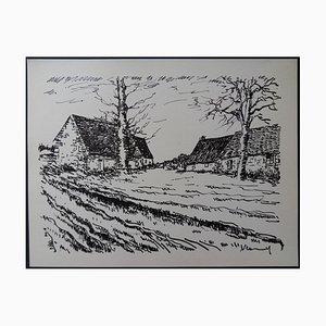 The Challonges Lithografie von Maurice de Vlaminck, 1958