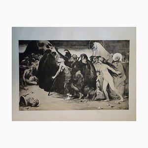 Le chemin de la Mort Lithograph by Eugène Trigoulet, 1897