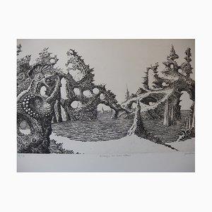 Rivages de Non-Retour Etching by Jacques Houplain