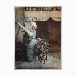 L'Aïeule Lithograph by Jeanne Granès, 1897