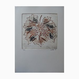 Sun, Vine, and Wine Etching and Aquatint by Louttre B