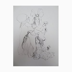 Incisione The Little Cat di Léonor Fini
