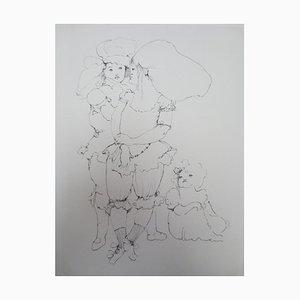 Incisione Three Little Girls di Léonor Fini