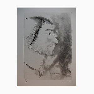 Portrait d'Homme Radierung und Aquatinta von Michel Ciry