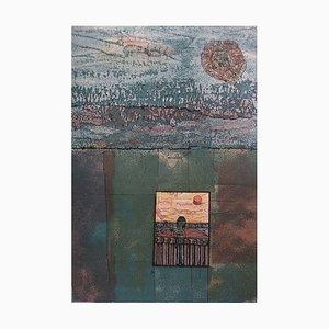 A la Fenêtre de l'Enfermement Lithograph by Jean-Pierre Vielfaure
