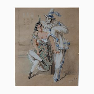 Carnaval: Pierrot Charmeur Drawing by Fritz