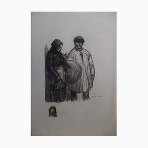 Stations Lithograph by Théophile-Alexandre Steinlen