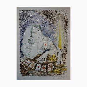 Les Devineresses Lithograph by Marianne Clouzot