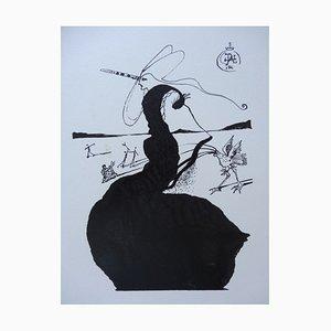 The Unicorn Engraved Wood par Salvador Dali
