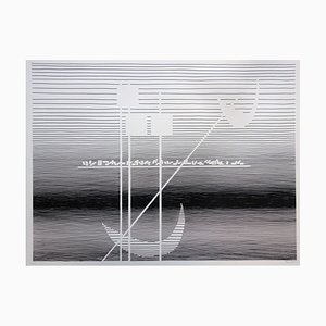 Formes et Lune en Reflet Siebdruck von Michel Seuphor