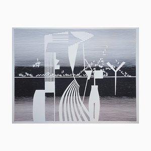 Quadrature de la Sphère Screen Printing by Michel Seuphor