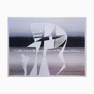 Michel Seuphor : Quadrature de la sphère - Sérigraphie originale Signée