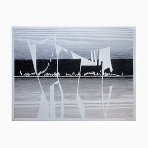 Voiles Screenrprint by Michel Seuphor