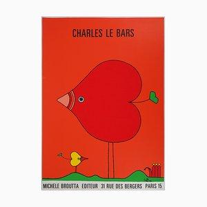 Serigrafía The Bird of Love de Charles Le Bars