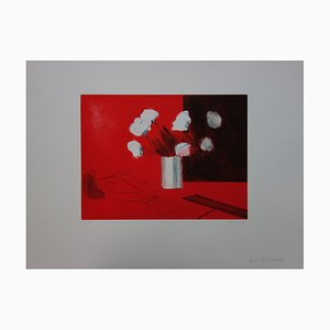 Nature Morte Rouge Engraving by Paul Guiramand