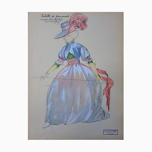 Promenade outfit Drawing by R. Charbo