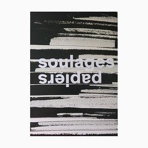 Picasso Museum Einladungskarte Reprint von Pierre Soulages, 2016