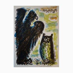 L'aigle et le Hibou Lithograph by Marc Saint-Saens