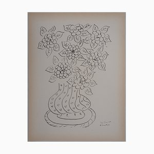 Bouquet of Flowers Lithograph Reprint by Henri Matisse, 1946