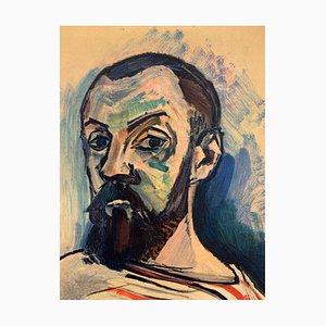 Henri MATISSE (d'après) : Autoportrait - Lithographie Signée, 1954