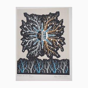 Rideau de Gel Lithograph by Jean Picart Le Doux
