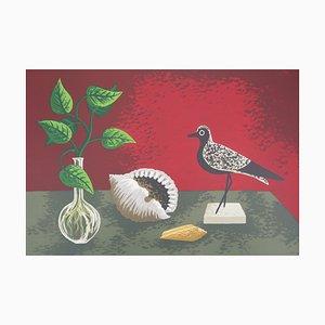 Nature Morte à l'oiseau Lithografie von Jean Picart Le Doux