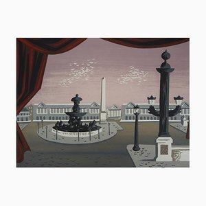 Jean PICART LE DOUX - Place de la concorde - lithographie originale