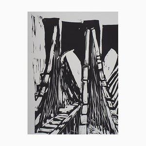 Pont de Brooklyn Lithograph by Jeroen Hermkens