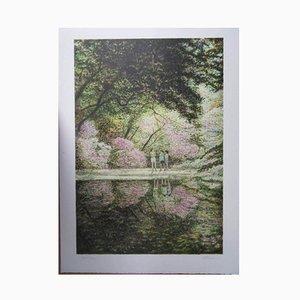 Récréation Près du Lac Lithograph by Harold Altman