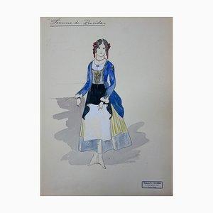 Woman of Procida Zeichnung von R. Charbo