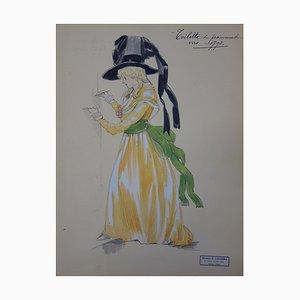 Robe Féminine de Promenade Zeichnung von R. Charbo